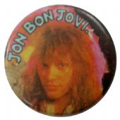 Bon Jovi - 'Jon Pink Aura' Button Badge